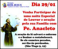 Leia mais:Reunião Pastoral Familiar com Pe. Anacleto