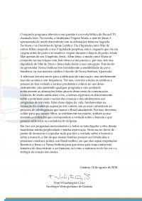 Leia mais:Carta Dom Washington Cruz