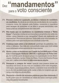 Leia mais:Dez mandamentos para o voto consciente