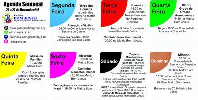 agenda semanal 27 11 a